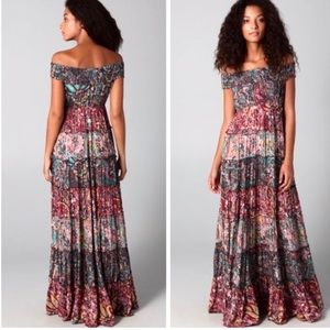 Free People Cascade Tiered Paisley Maxi Dress